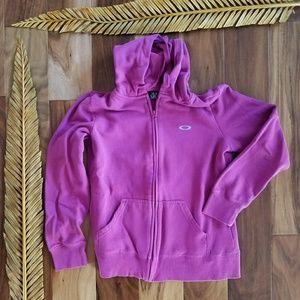 OAKLEY women's full zipup hoodie Medium sweatshirt